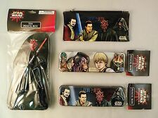 Set of 4 Star Wars Episode 1 Pencil Cases - Tin and Vinyl Cases