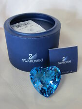 SWAROVSKI SCS AQUA ETERNITY HEART #844184 BRAND NEW IN BOX BLUE LOVE RARE F/SH