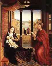 Weyden St Luke Drawing A Portrait Of The Madonna C1450 A4 Print