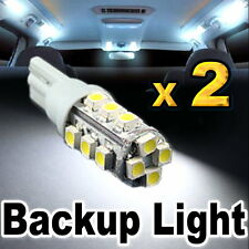 2x White LED Backup Reverse Lights 921 912 T10 16-SMD #C16