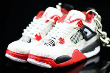AIR JORDAN IV 4 RETRO LASER FIRE RED OG CEMENT KEYCHAIN 3D SHEAKERS SHOES FIGURE