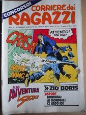 Corriere dei Ragazzi n°15 1974  con inserto Albo Avventura  [G419]