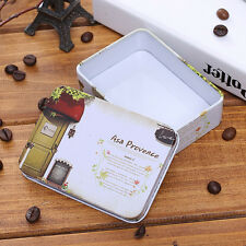 Mini Tin Metal Container Small Rectangle Lovely Storage Box Case Y4