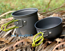 2pcs Camping Hiking Survival Cookware Cook Cooking Supplies Pot/Bowl