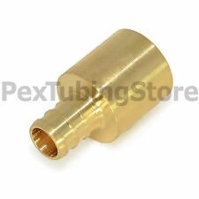 "(25) 3/8"" PEX x 1/2"" Male Sweat Adapters - Brass Crimp Fittings"