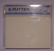 """New! Zutter 4""""x4"""" Book Pages Cream Acid Free 20pgs Use to Create Mini Scrapbooks"""