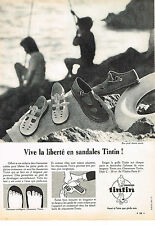 PUBLICITE ADVERTISING   1966   TINTIN  chaussures 2