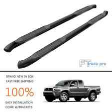 "4""Oval Bent End Nerf Bar Steps Running Board For 05-16 Toyota Tacoma Access Cab"