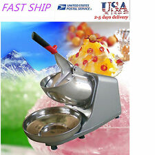 US Electric Ice Shaver Crusher Machine Snow Cone Maker Shaved Icee 300w 132lbs/h