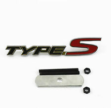 3D Metal Black Red TYPE-S Emblem Badge Bolt fixed on Car SUV Auto Front Grille