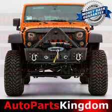 07-16 Jeep JK Wrangler Stubby Stinger Rock Crawler Front Bumper+Fog Light Hole