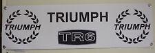 TRIUMPH TR6 pesados trabajo de PVC grande Tienda Garaje Banner Cueva de hombre