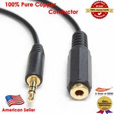 Gold 25FT Stereo Headphone 3.5mm Male to Female Audio Extension Cable, Black USA