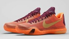 MENS NIKE KOBE X SILK SHOES SIZE 7 merlot gold red orange 705317 676