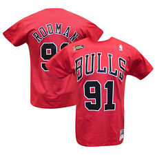 Dennis Rodman Chicago Bulls Mitchell & Ness HWC Name Number T-shirt L