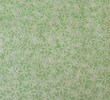 Morning Wake Up Phyllis Dobbs Quilting Treasures BTY Green & Off-White Floral