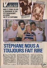 Coupure de presse Clipping 1985 Stéphane Collaro la Famille  (4 pages)