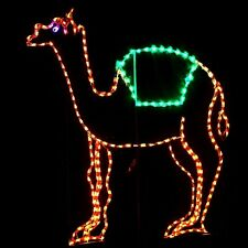 Christmas Standing Camel Nativity Outdoor LED Lighted Decoration Steel Wireframe