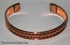 TWISTED WIRE DESIGN COPPER CUFF BRACELET  #2555