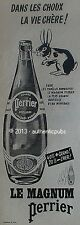 PUBLICITE PERRIER MAGNUM EAU DE SOURCE LAPIN ANIMAL DE 1960 FRENCH AD ADVERT PUB