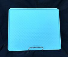 VINTAGE TWA AIRLINE TURQUOISE LT BLUE PLASTIC MEAL SNACK TRAY