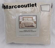 Sunham Cotton Linen FULL / QUEEN Duvet Cover & Shams Set Khaki