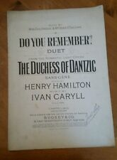 Ivan Caryll signed~1903 sheet music~antique