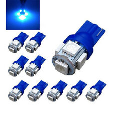 10x Blue T10 5050 W5W 5 SMD 194 168 LED Car Side Wedge Tail Light Lamp Bulb 12V
