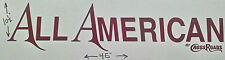 NEW ALL AMERICAN by CROSSROADS RV MOTORHOME CAMPER LOGO DECAL RED 45X10 GRAPHIC