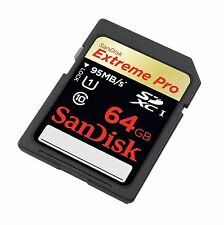GENUINE 64GB Sandisk Extreme Pro SD SDXC  64 GB 95MB/s UHS-1 Memory Card