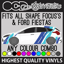 Ford Fiesta/Focus Tigre Rayas Motorsport calcomanías decorativas Gráficos Kit RS ST
