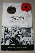 (PL) 2012 Australia Remembers - Merchant Navy 20C Unc Coin ROYAL AUSTRALIAN MINT