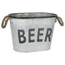 New Metal Beer Oval Ice Bucket Party Tub, Funny Corona Bud Miller Man Gift
