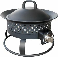 NEW Bond Aurora Steel Portable Gas Fire Bowl! Propane Metal Camping Pit Ring