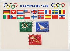Olympics,1964,Postcard,3 DDR Stamps,Summer Rome & Winter Squaw Valley,Used,1960