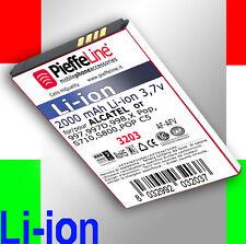 batterie de 2000 mAh À Au lithium pour Alcatel OT POP C5 X Pop 997 998 S710 S800