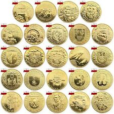 Poland 2 zl 2004 Complete FULL year All 24 coins Set Zloty