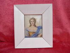Schöne,alte Miniatur__Portrait einer Dame__kl. Gemälde__signiert__16cm x 14cm !