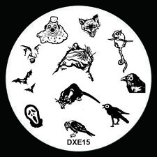 Halloween Design Nail Art Image Stamp Stamping Plate Manicure Template Tool D-15