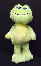 Baby Gantz Blue Eyed Green Frog Rattle Plush Stuffed Bean Toy Lovey Security #46