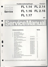 Service Manual Philips Colour Farb TV Chassis FL1.14 1- 2.16 (88)