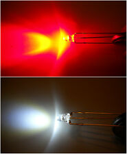 Dual LEDs WHITE / RED common anode x10