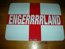 Engerrrrland Plaque Poster! A4! England! St George's Cross Flag World Cup NEW