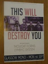 This Will Destroy You A3 Glasgow 2014 tour concert gig poster