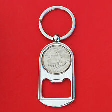 2009 US American Samoa Quarter BU Unc Coin Key Chain Ring Bottle Opener NEW