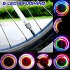 2x 5 LED Flash Light Bicycle Motorcycle Car Bike Tyre Tire Wheel Valve Lamp