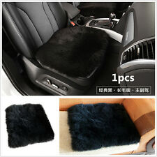 1× Car Genuine Sheepskin Long Wool Seat Cushion Cover Breathable Warm Chair Pad