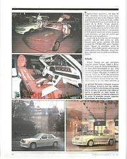 REPORTAGE MAGAZINE DOSSIER MERCEDES PREPARATION SALON GENEVE 3 PAGES ANNEE 1984