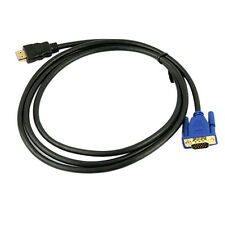 6Ft 1.8M VGA HDMI Gold Male To VGA HD-15 Male Cable 1080P HDMI-VGA M/M Best