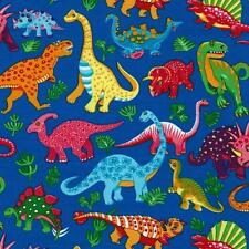 Fun Dinosaur Dance Fat Quarter by Nutex 100% Patchwork Quilting Cotton Fabric